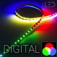 Ruban IP20 5050 - RGB digital - 14,4W/m - 60 LED/m - 5m