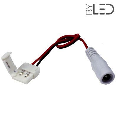 Connecteurs ruban LED 10 mm - Click + câble 15cm + jack