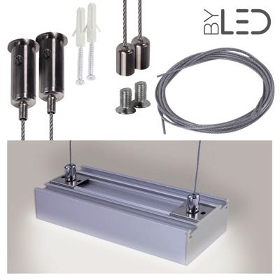 Kit suspension pour profilé LED plat C12