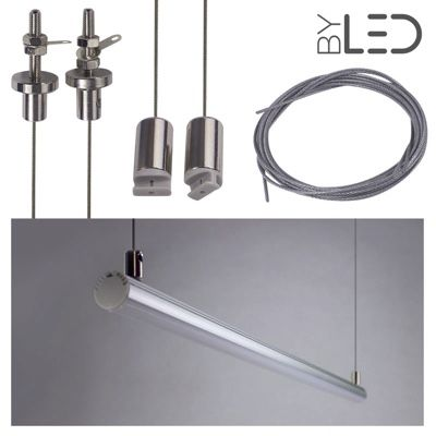 Kit suspension pour profilé LED tube - T01