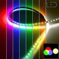 Ruban IP65 5050 - RGB + Blanc chaud - 19,2W/m - 60 LED/m - 5m