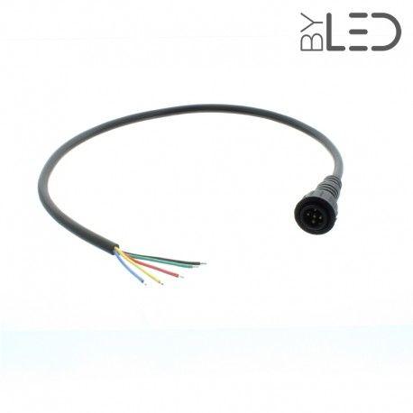 Câble de départ étanche IP67 pour spot RGB+W