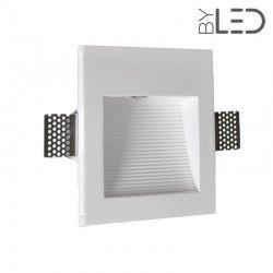 Spot LED encastré mural carré strié - 1W STAFF MEC01