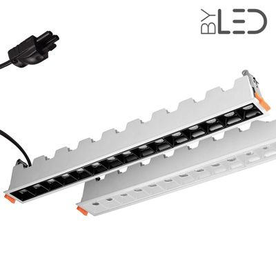 Spot LED encastrable linéaire Blanc 30W - Linea
