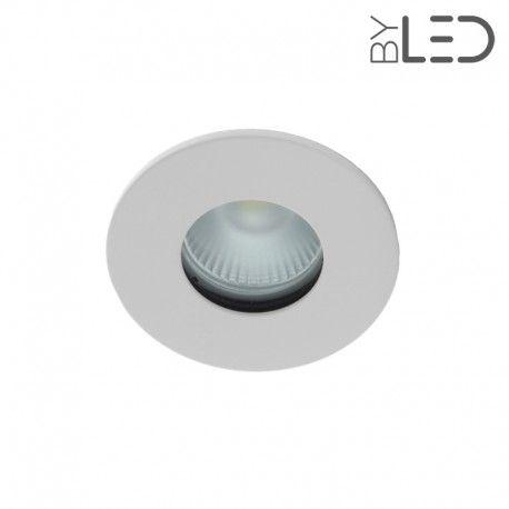 Spot encastrable collerette ronde flat SPLIT - Blanc mat
