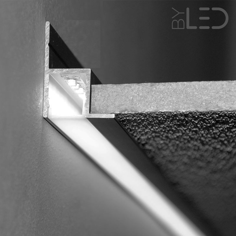 profil led aluminium laqu blanc pour faux plafond ou. Black Bedroom Furniture Sets. Home Design Ideas