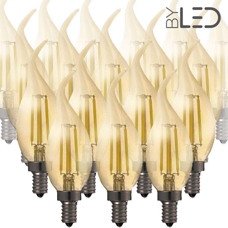 Led Flamme De 20 Filament Ampoules E14 Dimmable Lot Ambrée À dCshQBtxr