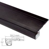 Profilé aluminium noir contre-marches escaliers pour ruban LED - CRAFT - S01