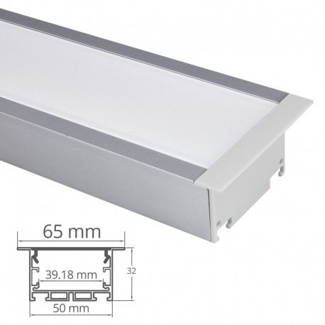 Profilé LED aluminium ruban LED large - CRAFT - C12