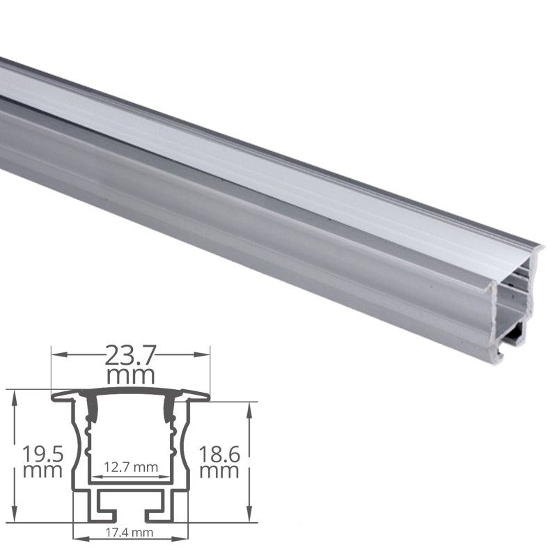 Profilé Aluminium Encastrable Pour Ruban Led Craft E05