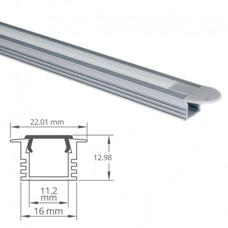 Profilé aluminium encastrable pour ruban LED - CRAFT - E02