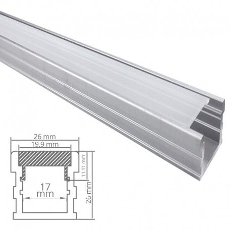 Profilé LED aluminium sol renforcé - CRAFT - F03