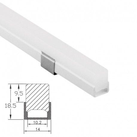 Profilé LED PVC étanche - CRAFT – O02 – Diffuseur givré épais