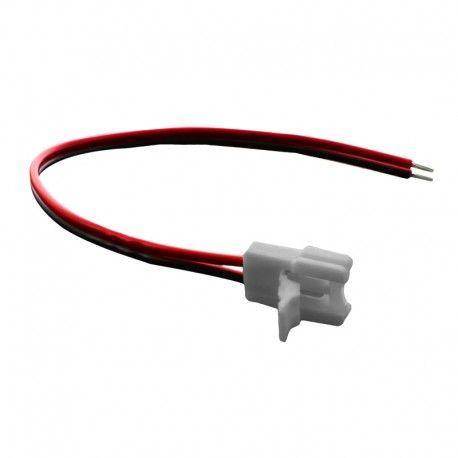 Connecteurs ruban LED Mono 8 mm câble 13cm + click