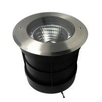 Spot LED encastré de sol orientable inox 15W - 230V - QINOX 160 mm