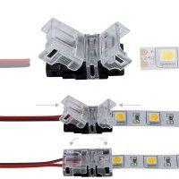 Connexion rapide ruban LED IP20 2 pôles - Câble 10mm