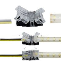Connexion rapide ruban LED CCT IP65 - Cable 10 mm - 3p
