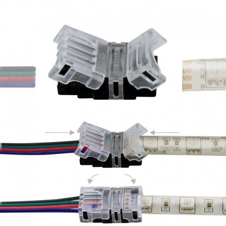 Connexion rapide ruban LED RGB IP65 – Cable - 4p