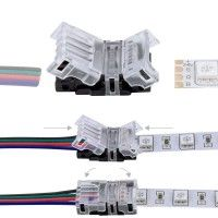 Connexion rapide ruban LED RGB IP20 – Cable - 4p
