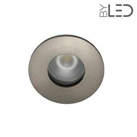 Collerette pour support GU10 - Ronde flat SPLIT - Nickel satiné