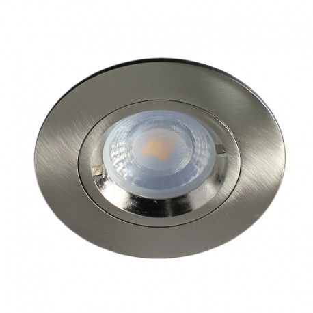 Spot encastrable IP 65 pour LED GU10 – rond – Nickel satiné