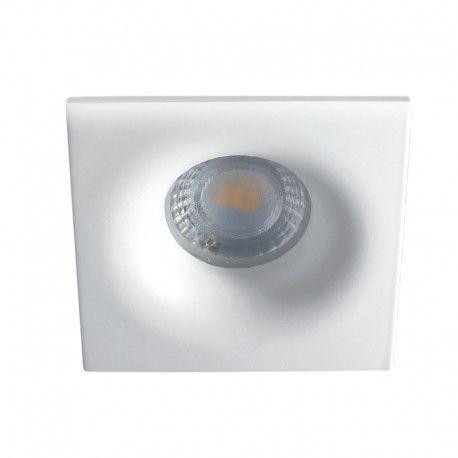 Spot encastrable IP65 – BBC – pour LED GU10 – carré – blanc