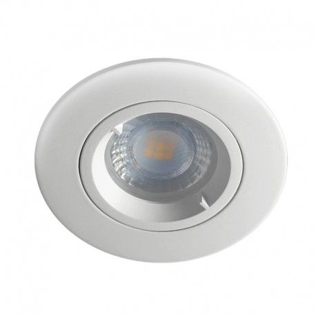 Spot encastrable IP65 pour LED GU10 – rond – blanc