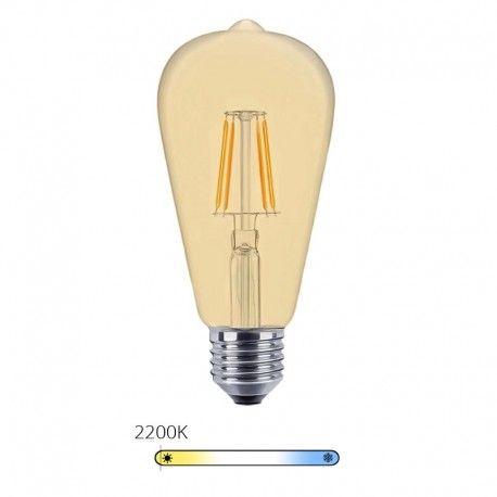 Ampoule LED à filament Edison - Ambrée – 6W - E27 - Dimmable