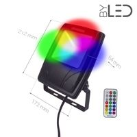 Projecteur LED Design 20 W - RGB - 230V - RHINO